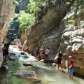 Crossing the canyon of Neda